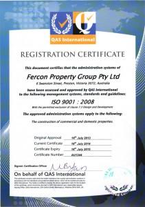 Quality Assurance – ISO 9001:2008 – Certificate No. AU1342 & AU1344